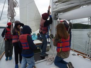 Raising sails